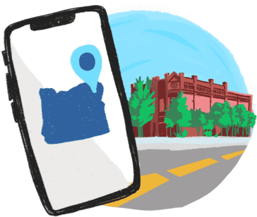 illustration of mobile app on phone
