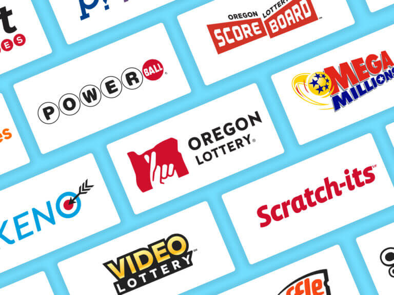 A grid of images showing Oregon Lottery games logos