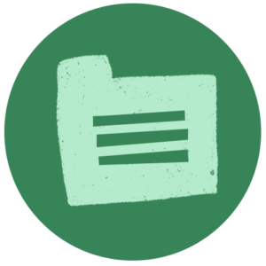 File icon on a green circle