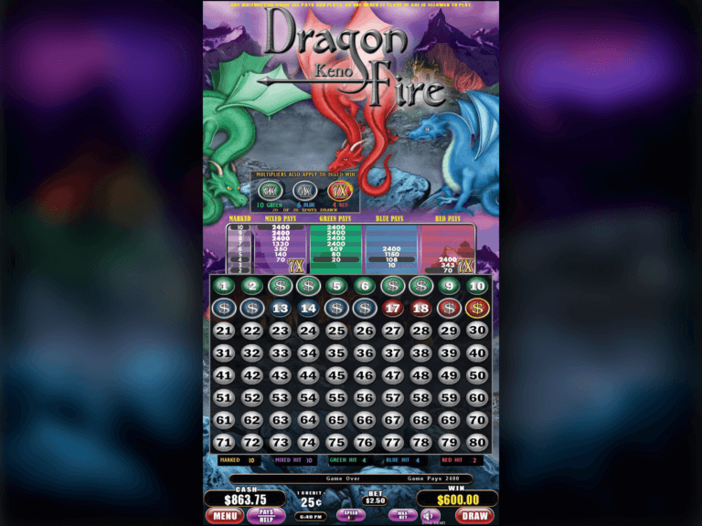 Dragon Fire Keno 1