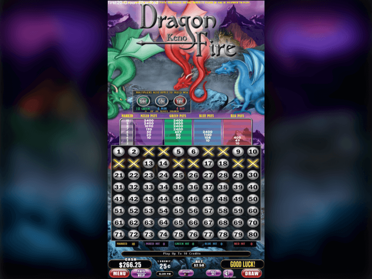 Dragon Fire Keno 2