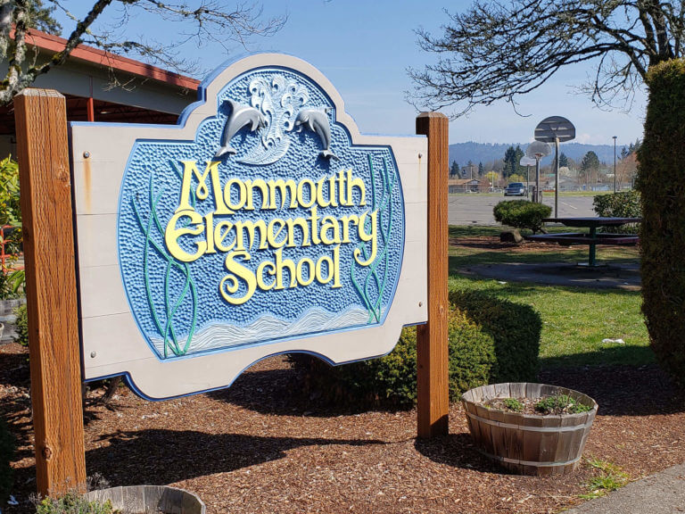 Sign at Monmouth Elementary
