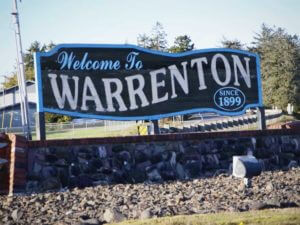 Welcome to Warrenton sign