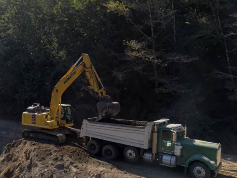 Heavy equipment operating at FiveMile-Bell