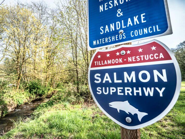 Salmon Superhighway sign