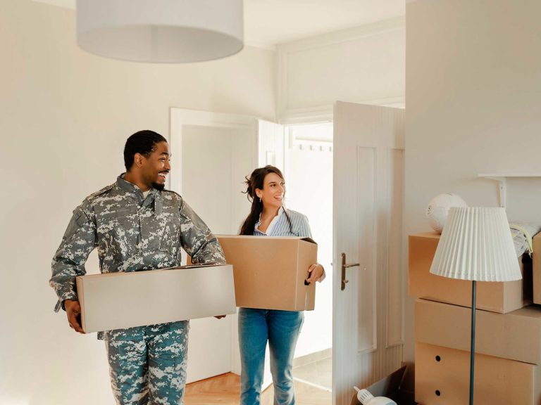 Veteran moving into new home