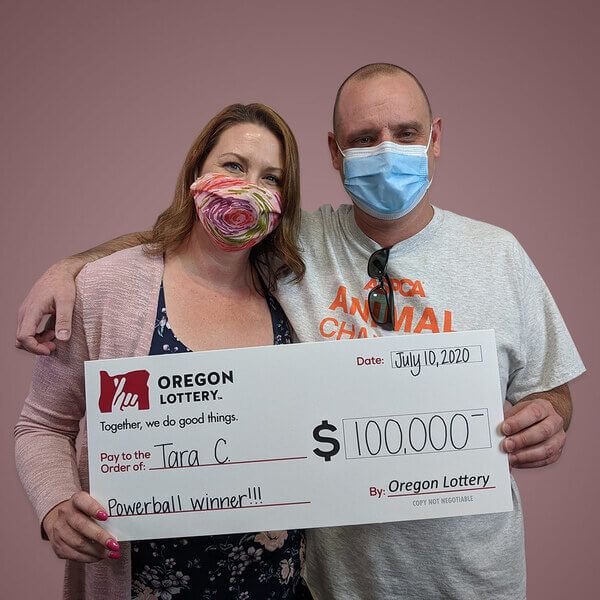 Tara and Craig, Powerball winners