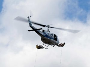 Helicopter in flight, Prineville OR