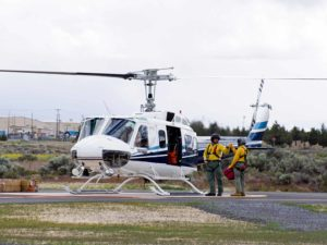 Helicopter at Prineville Airport