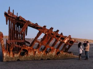 Peter Iredale wreckage