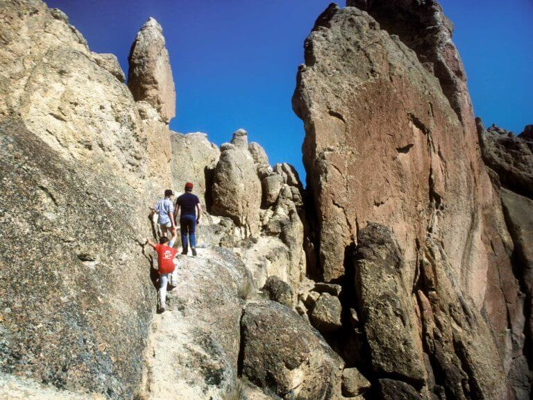 People hiking at Smith Rock