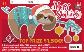 Merry Slothmas ticket front