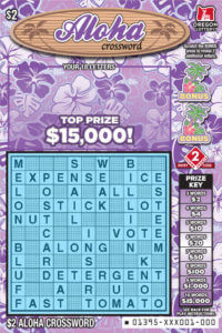 Aloha Crossword ticket front