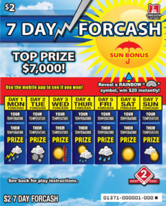 7 Day Forcash ticket