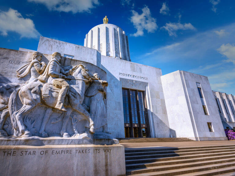 Entrance of Captiol in Salem, Oregon