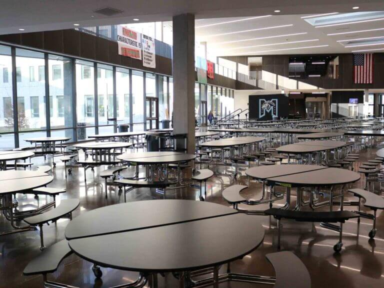 Mountain Side High cafeteria