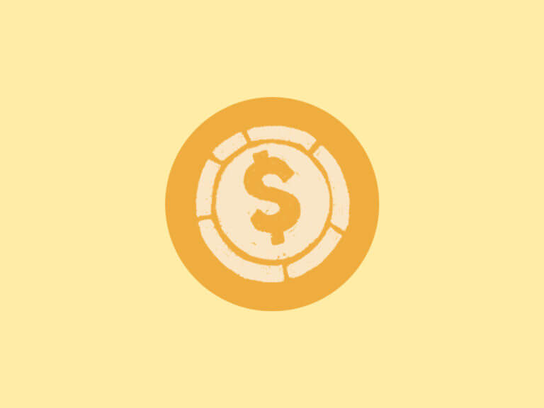 yellow symbol of dollar sign